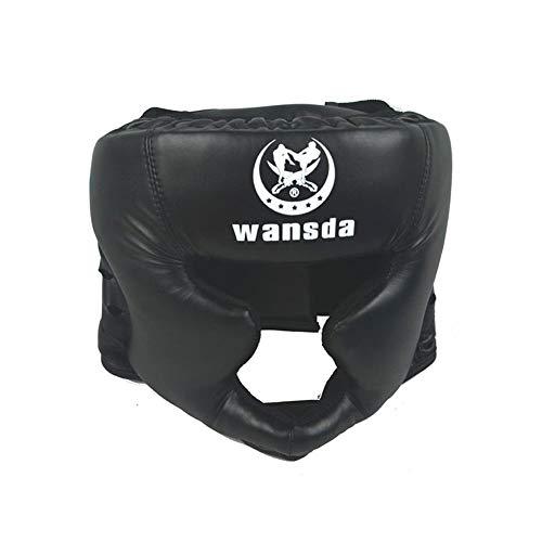 Kopfschutz Boxen Boxing Kopfschutz Head Guard Boxkopfbedeckung Essential Professional Kunstleder MMA Protector Kopfbedeckung UFC Fighting Judo Kickboxing Head Guard Sparring Helm