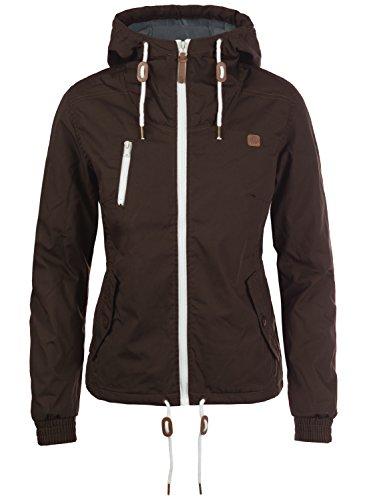 DESIRES Tilda Damen Übergangsjacke Jacke gefüttert mit Kapuze, Größe:L, Farbe:Coffee Bean (5973)