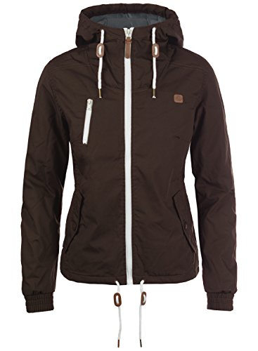DESIRES Tilda Damen Übergangsjacke Jacke gefüttert mit Kapuze, Größe:M, Farbe:Coffee Bean (5973)