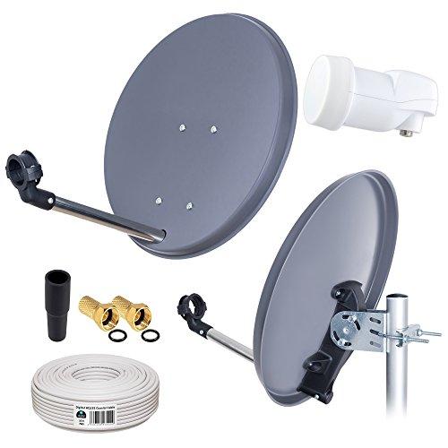 HB-DIGITAL Mini Sat Anlage 40cm Schüssel + Opticum LNB 0,1 10m für HDTV UHD 3D 4K geeignet