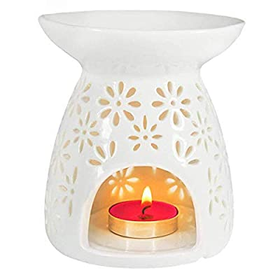 Ivenf Ceramic Tea Light Holder - Aromatherapy Essential Oil Burner