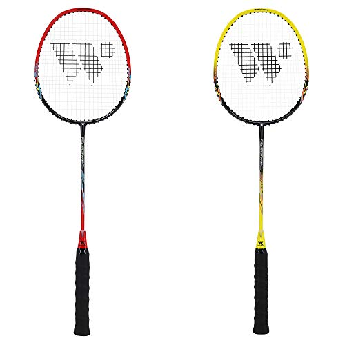 WISH FusionTec 917 – Badminton Racket and Case – Includes 1 Badminton Racket and 1 Badminton Bag – Excellent Badminton Grip – Great for Competitive Badminton Games, Red
