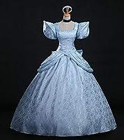 ドレス シンデレラ ドレス プリンセスドレス コスチューム プリンセス ワンピース レディース キャラクター ロングドレス MTE604 S [並行輸入品]