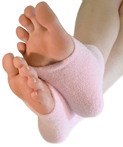 NatraCure Pink Intensive Moisturizing Gel Heel Sleeves (Lavender Scent) - 165 RET - (for Anti-Aging and Relief from Eczema and Dry, Rough, and Cracked Heels)
