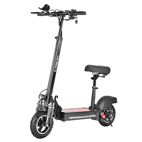 Scooter Urbano De 600 W Y 10 Ah, Scooter Urbano Ligero De Altura Ajustable Con Asiento, Scooter De Motor Plegable De Aluminio Con Batería Potente, Scooter Eléctrico Para Adultos Y Adolescentes