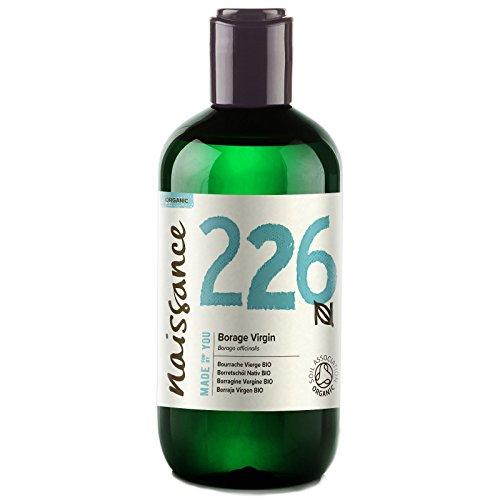 Naissance Borraja Virgen BIO - Aceite Vegetal Prensado en Frío 100% Puro - Certificado Ecológico - 250ml