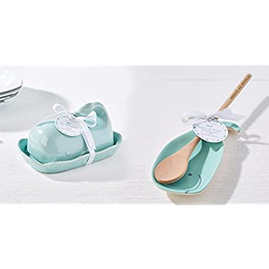 Twos Company Whale Spoon Rest With Spoon and Whale Butter Dish
