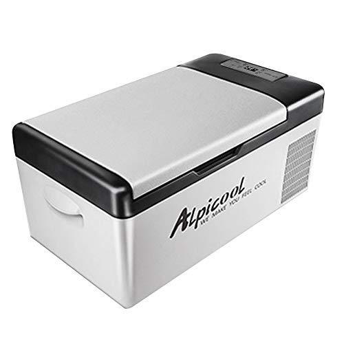 Staright Refrigerador portátil para coche, congelador, 15L, compresor de nevera automático, refrigeración rápida, nevera para picnic