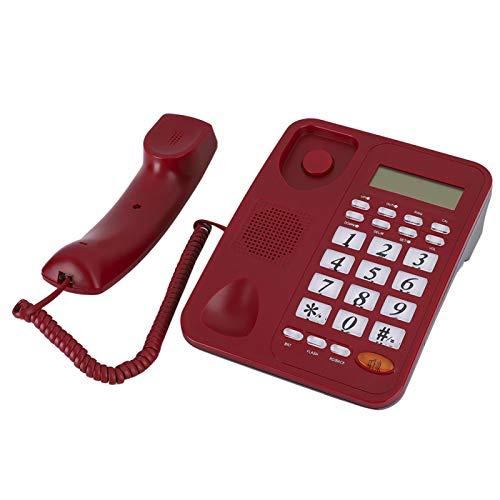 Socobeta Teléfono fijo con cable de identificación de llamadas telefónicas para comunicación para el cuidado del hogar