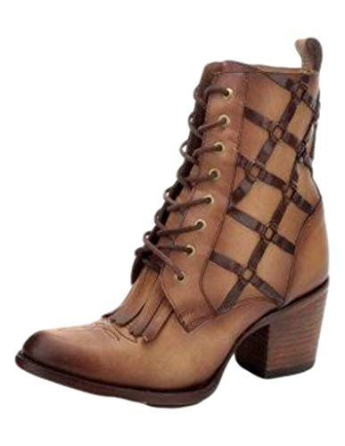 Corral+Ld+Sand+Lace+Up+Ankle+Boot+%2cSize+7.5