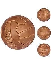 FNine Vintage voetbalbal, antiek lederen voetbal
