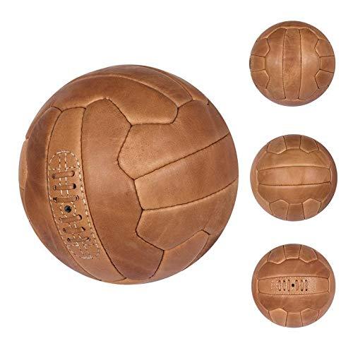 FNine - Balón de fútbol (piel, color marrón claro)