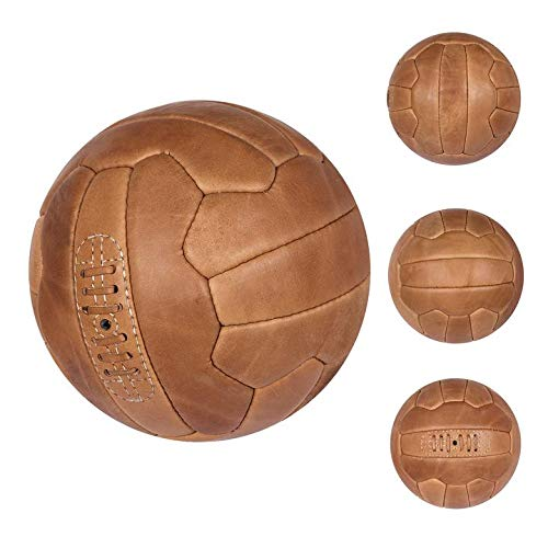 FNine Vintage-Fußball, antikes Leder, Hellbraun