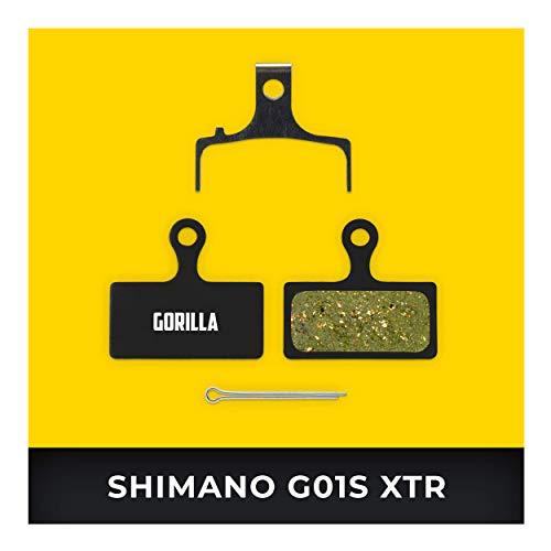 Shimano Bremsbeläge G01S XTR BR-M9000 M987 M985 XT M8000 M785 SLX M675 M666 Deore M615 für Fahrrad Scheibenbremse I Organisch I Hohe Bremsleistung I Langlebiger & Passgenauer Bremsbelag