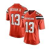 Pilang Football américain Sport, Cleveland Browns, 13# Beckham JR, Vêtements for Hommes Respirant Jersey (Color : Orange, Size : XL)
