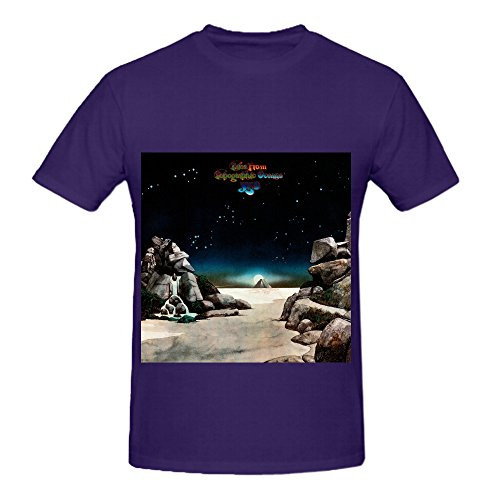 Yes Tales from Topographic Oceans Pop Herren Crew Neck Cotton T Shirt X-Large