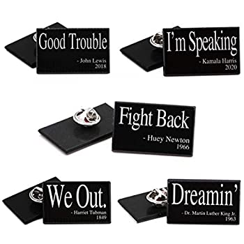 African American Quotes Lapel Pin 5 Pack…