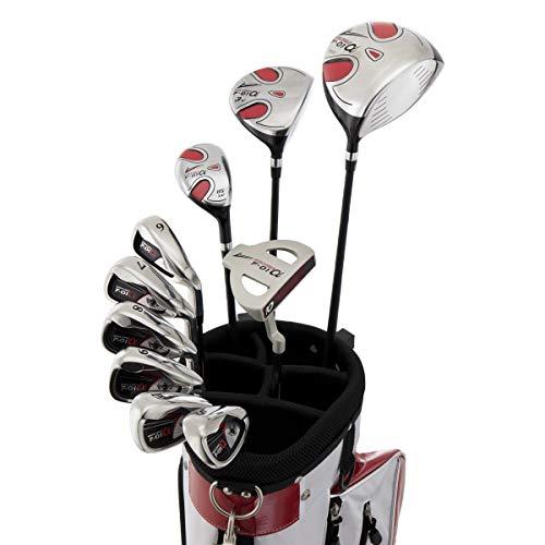 WORLD EAGLE(ワールドイーグル) F-01α メンズ ゴルフ クラブ フルセット ホワイトレッド バッグver.【右用】 フレックスS WE-J-F-01-MRH-WR