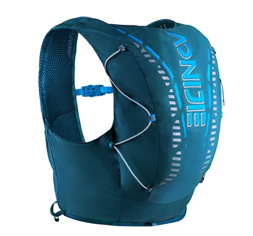 AONIJIE Zaino per bere, leggero e traspirante, 12 l, per attività all'aria aperta, per corsa, ciclismo, corsa, giubbotto di idratazione (blu, S/M)