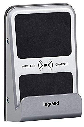 Legrand 077599 IP66 IK08 - Cargador inalámbrico para inducción (1 A, 5 W, semiempotrado), color gris