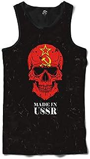 Camiseta Regata BSC Caveira País União Soviética Sublimada Preto