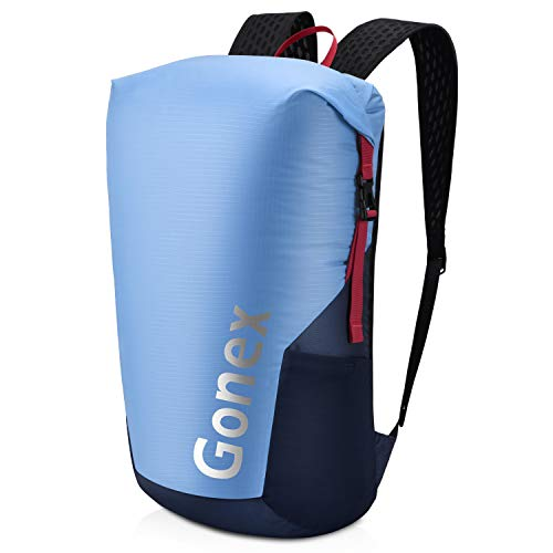 Gonex Lightweight Travel Daypack 32L Packable Handy Backpack for Outdoor Cycling Hiking Camping Men Women Blue