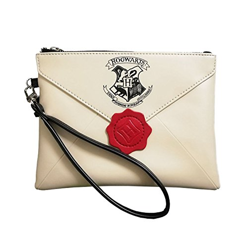 Weiblich Harry Potter Hogwarts College Brief Damen Handtaschen Clutches Geldbörse Zipper Kosmetiktasche
