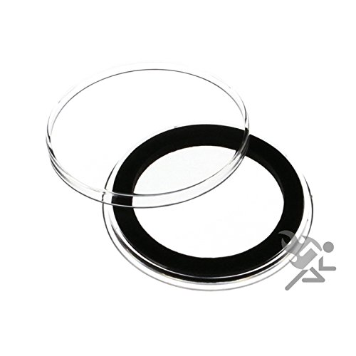 (25) Air-tite 37mm Black Ring Coin Holder Capsules for 1oz Gold & Silver Philharmonics and $7 Silver Strikes Token