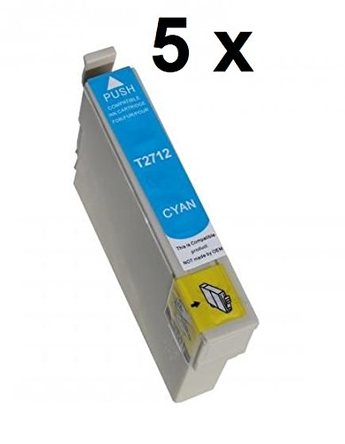 5 X cartuccia come T27 Ciano XL, T2702/T2712 - Cartuccia 5 cartucce d' inchiostro in capacità XL