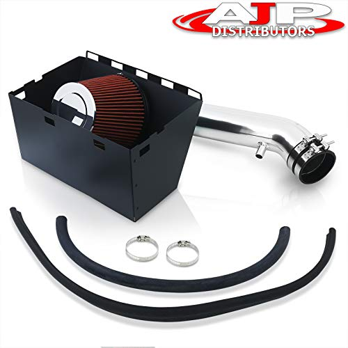 AJP Distributors For Dodge Ram 1500 2500 3500 5.7L V8 High Flow Induction Air Intake System + Heat Shield Chrome Piping Kit