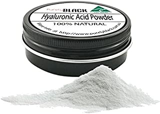 purelyBlack DIY - Pure Hyaluronic Acid Powder Low Molecular Weight - Making Hyaluronic Acid Serum Vitamin C Serum (50g)