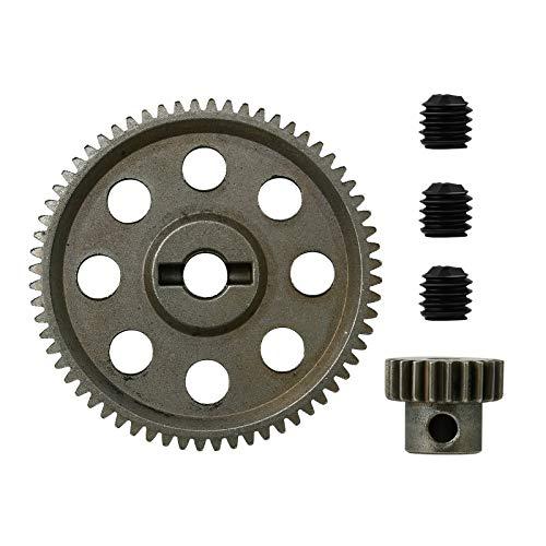 WINOMO HSP 11184 11181 diferencial metal engranaje principal 64T motor Gear 21T 94111 9417 1/10 RC modelo coches