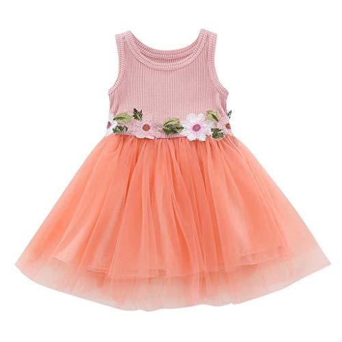 Kobay Kleinkind Baby Kind Mädchen Armlos gestrickt Bow Newborn Tutu Prinzessin Tanktop Kleid