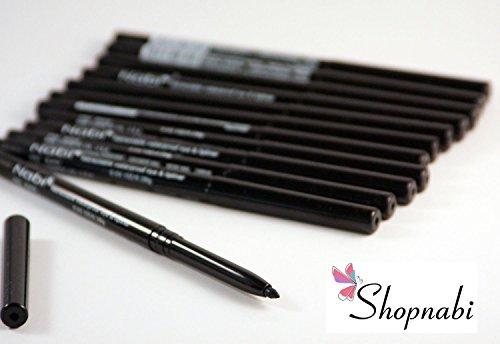 12pcs Nabi Retractable Waterproof Black Eyeliner (Wholesale Lot)