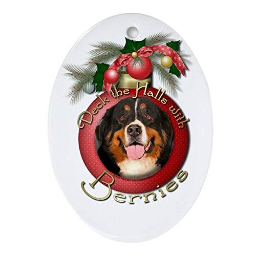 Tiukiu Keramik-Ornament für Weihnachtsbaum, Weihnachten – Deck The Halls – Bernies Andenken (Ova