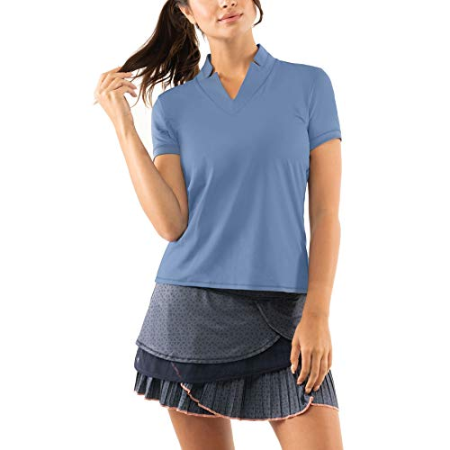 Lucky In Love Chi Chi Womens Short Sleeve Shirt 445 Steel Blue