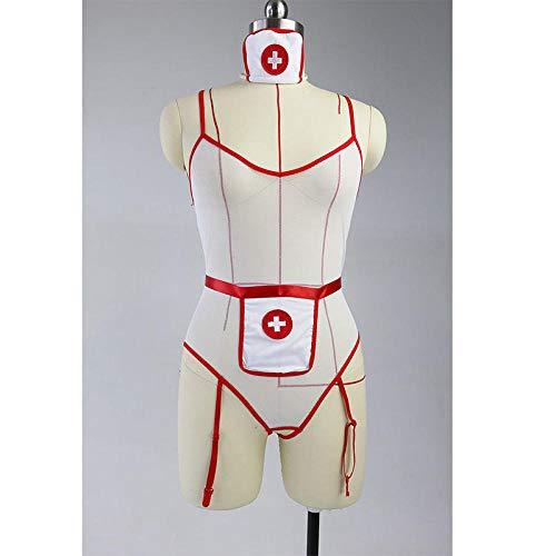 Conjuntos de lencería para mujer Ropa de dormir para mujer S-3XL Cosplay Lencería Hot Sexy Uniform Mesh Vestidos sexuales con medias Porno Enfermera Uniforme Tallas grandes Ropa interior sexual Fantá