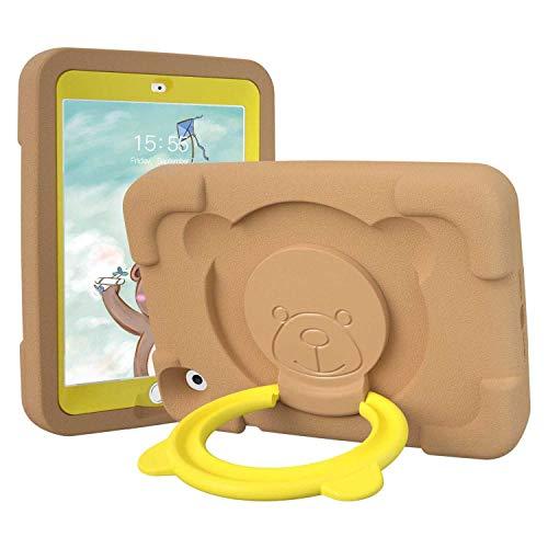 PZOZ Hülle für Apple iPad Mini 4/5 7,9 Zoll, Stoßfeste Eva-Drehgriff-Klappständer Hochleistungsschutzhülle für die 4. Generation der 5. Generation (braun)