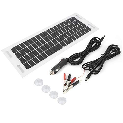 Cargador Solar para Coche Cargador Solar para Coche Silicio monocristalino Flexible con Cable de Carga de 3 Metros 18V 5W