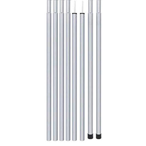 Carpa Postes De Soporte Varillas Conjunto 2m Ajustable Plegable Ligero Kit Para...