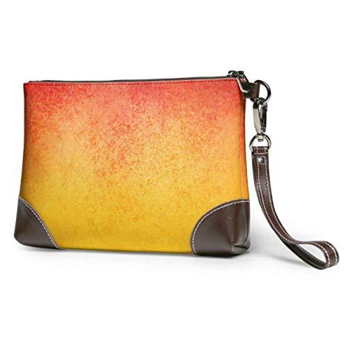 XCNGG Weiche wasserdichte Herren Clutch Brieftasche Leder Delicious Yellow Peach Wristlet Brieftasche Telefon mit Reißverschluss für Frauen Mädchen