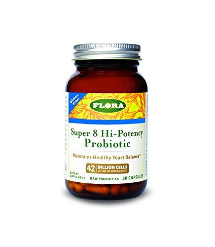 Udo's Choice - Super 8 Probiotic 30 Count - 42 Billion CFU, High Potency, Vegetarian Probiotics for Women & Men, Yeast Balance