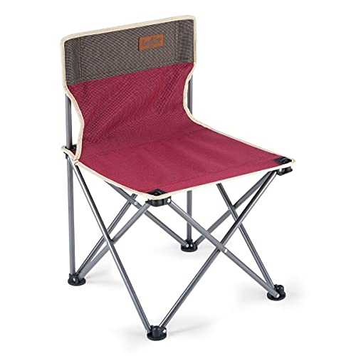 Lesfit Campingstuhl Faltbar, Klappbarer Camping Stuhl, Ultralight