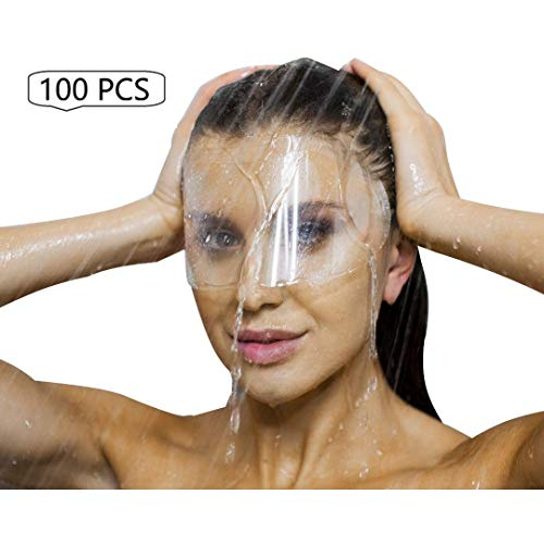 100 PCS Protective Shower Visor Face Shield Mask For Microblading, Permanent Makeup, Cosmetic Tattoo, Eyelash Extensions, Eyes Cataract Surgery, Eyelid Blepharoplasty Aftercare For Eyes And Eyebrows
