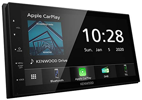 Kenwood DMX5020DABS - 17,3 cm WVGA Digital Media Moniceiver mit DAB+/UKW, CarPlay, Android Auto, Android USB-Mirroring, Bluetooth, kapazitivem Touchpanel, DSP, 4 x 50 Watt