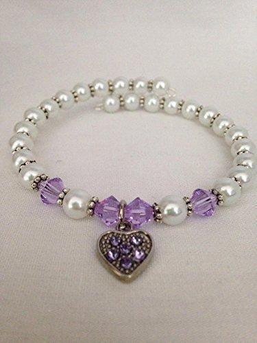June Light Max Genuine 51% OFF Amethyst Swarovski Bracelet Crystal Birthstone