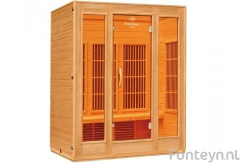 Sven 3 Topline 3 Person Infrared Sauna and Infrared Cabin Sauna/1900 Watt/and Many Extras