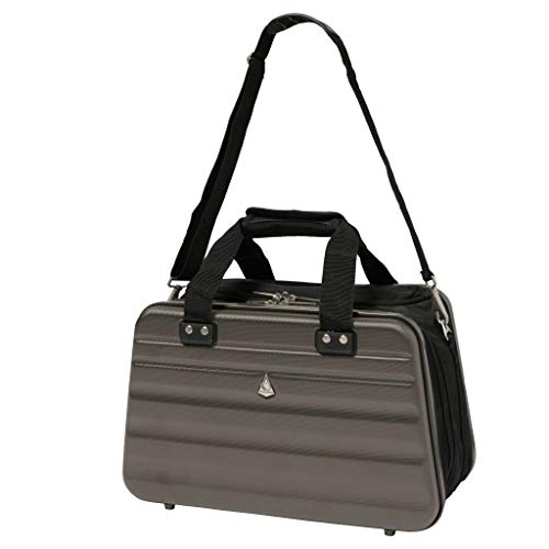 Aerolite Ryanair Maximum Size 40x20x25cm Hand Cabin Luggage Hard Shell Travel Carry On Holdall Shoulder Under Seat Flight Bag 40x20x25 Charcoal