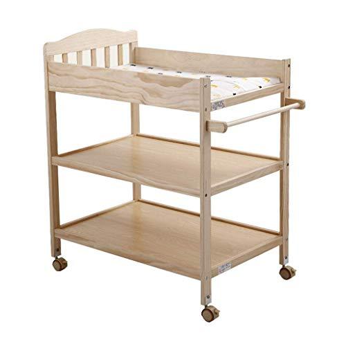 LZQBD Family Care/Ändern Tray Wickeltisch mit Rädern und Speicher for Neugeborenes Baby Dresser Newborn-Station Wicke Stationen for das Schlafzimmer ändern Pad und Haltegurt Baby-Pflegestation