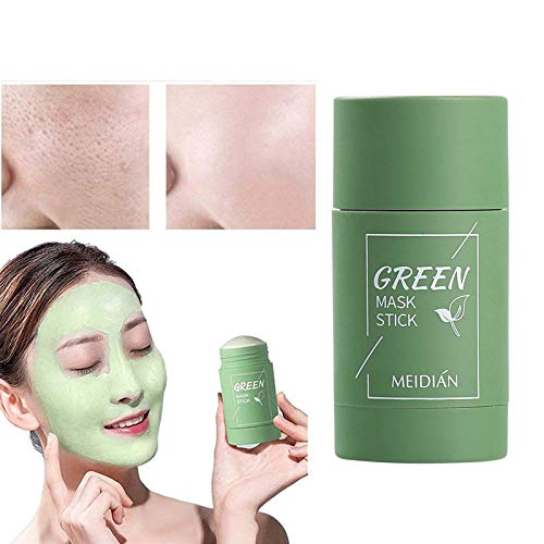Grüner Tee Purifying Clay Stick Mask Ölkontrolle Gesichtsmaske, Stick Cleansing Anti-Akne-Maske Fine Solid Mask Green Tea, Auberginen Akne Cleansing Solid Mask (Greet Tea)